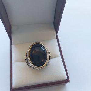 Vintage Resin Gemstone Gold Ring